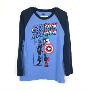 Marvel Medium Long Sleeve Super Hero T Tee Shirt